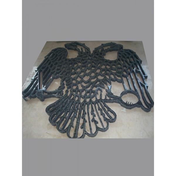 ΒΥΖΑΝΤΙΝΟΣ ΑΕΤΟΣ ΑΣΠΡΟΜΑΥΡΟΣ Υδροκοπή σε μάρμαρο - γρανίτη - Εργαστήριο Γλυπτικής - e-sculpture.gr